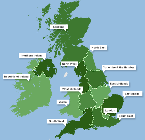 Map Of Ireland Midlands.Business Franchise Opportunities In The Republic Of Ireland