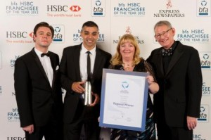 Gee Bains - bfa Franchisee of the Year 2012 award winner