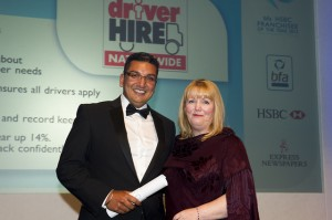 Enfield Franchisee Manjit Singh (L) with HSBC Head of Franchising Cathryn Hayes (R)