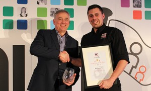 Nic Chaviaris receives his Driver Hire 'Franchisee of the year' award