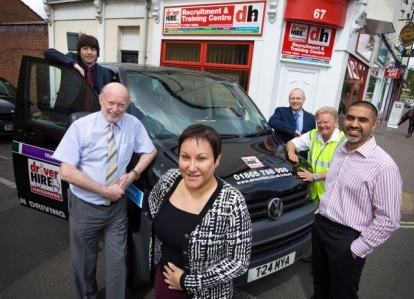 Franchisee Lorraine Thompson and the Driver Hire Oxford team