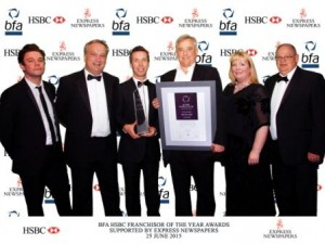 bfa Franchisor of the Year silver award winner - Driver Hire UK franchise awards