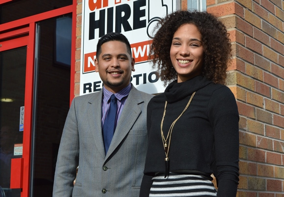Jimmy and Shadia part of the Driver Hire eServices team