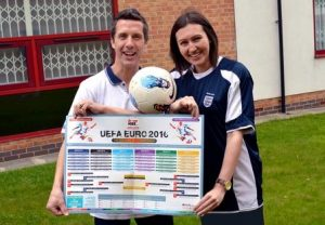 Euro 2016 poster from franchised business Driver Hire