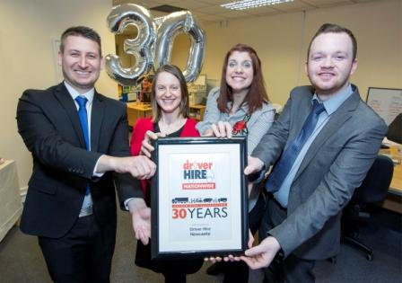 Driver Hire Newcastle celebrates 30 years