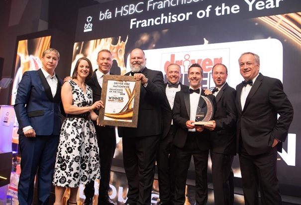 bfa HSBC Franchisor of the Year award winner 2018 - Driver Hire Franchise opportunities