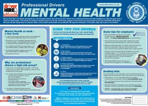 Professional Drivers World Mental Health - Poster