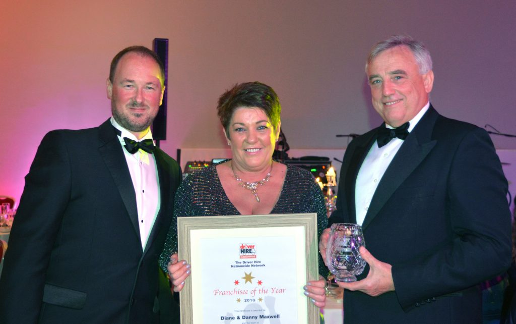 Driver Hire Franchisee of the Year award winner - Diane Maxwell from Driver Hire Belfast